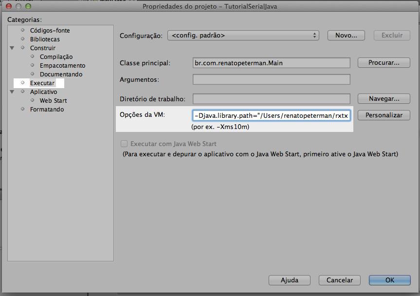 Comunicação Serial (RXTX) com Java e Arduino no Mac OS X